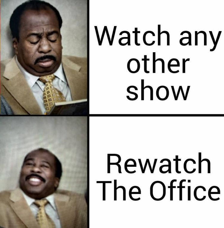 Happy watching The Office meme