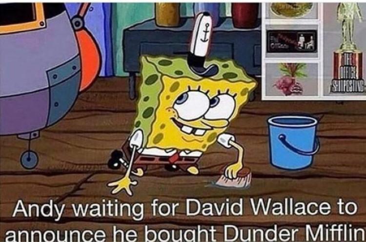 David Wallace SpongeBob crossover meme