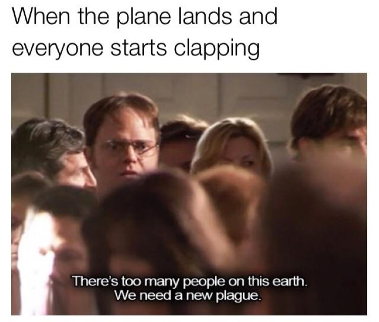 Everyone claps Dwight fewer people
