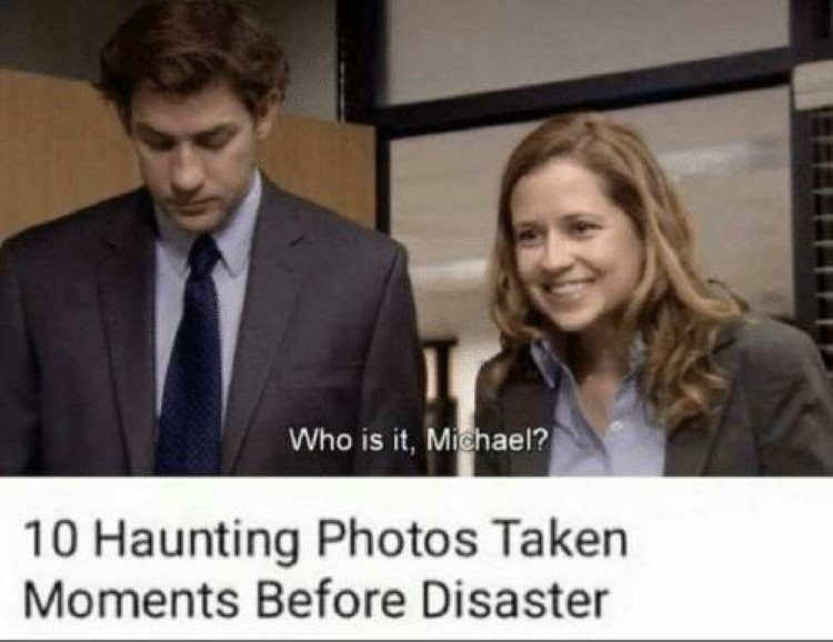 Photos taken before disaster - who is it michael?