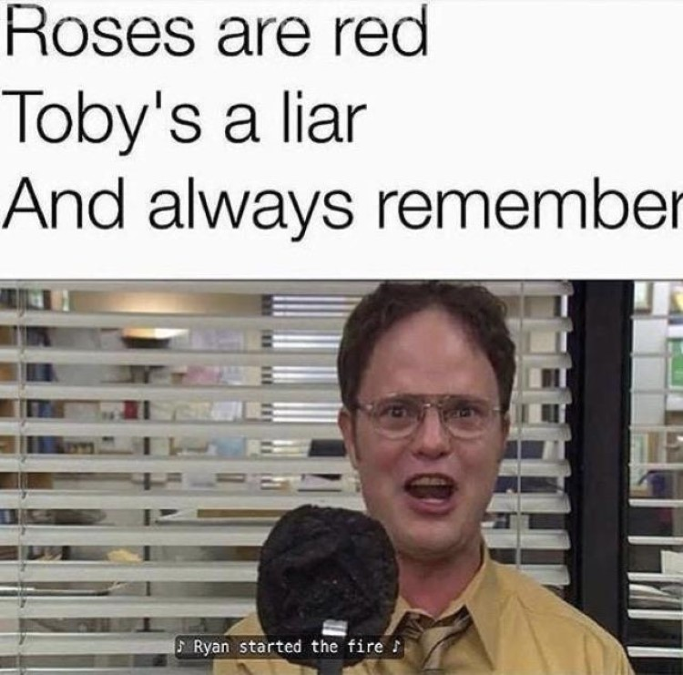 Roses are red The Office poem
