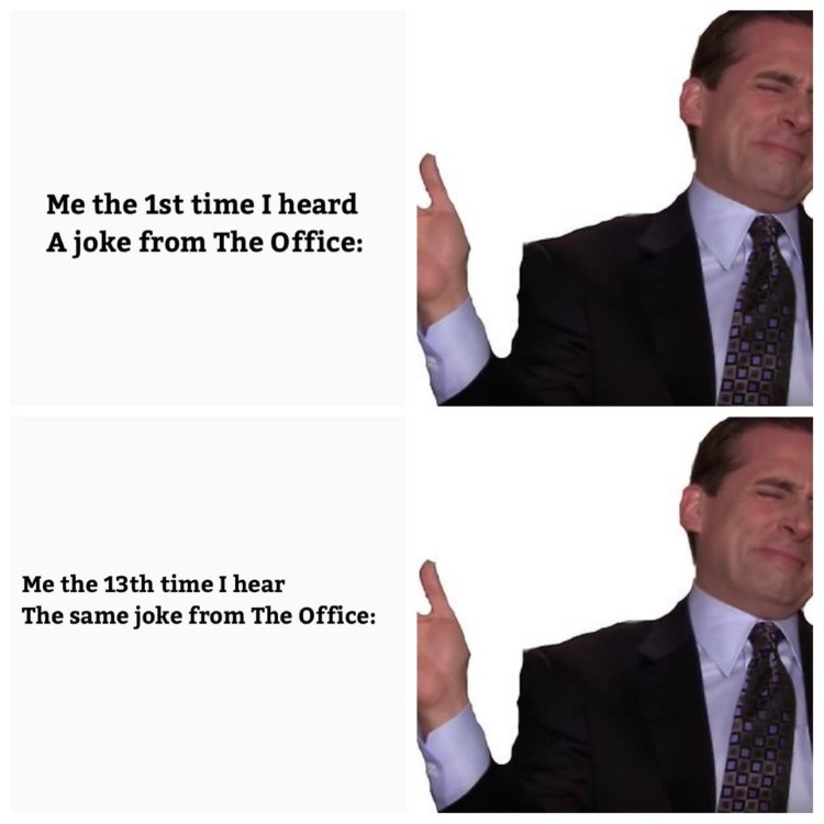 Always laughing at The Office meme