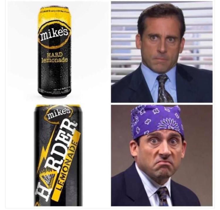 Office Prison Mike Hard Lemonade meme