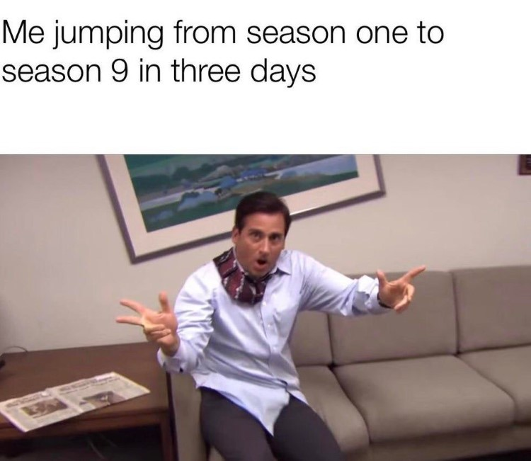 Going from s01 to s09 meme