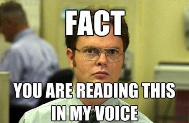 Dwight reading this in my voice