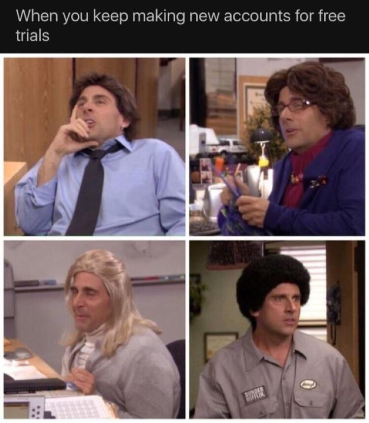 Michael Scott dressed as everyone from office
