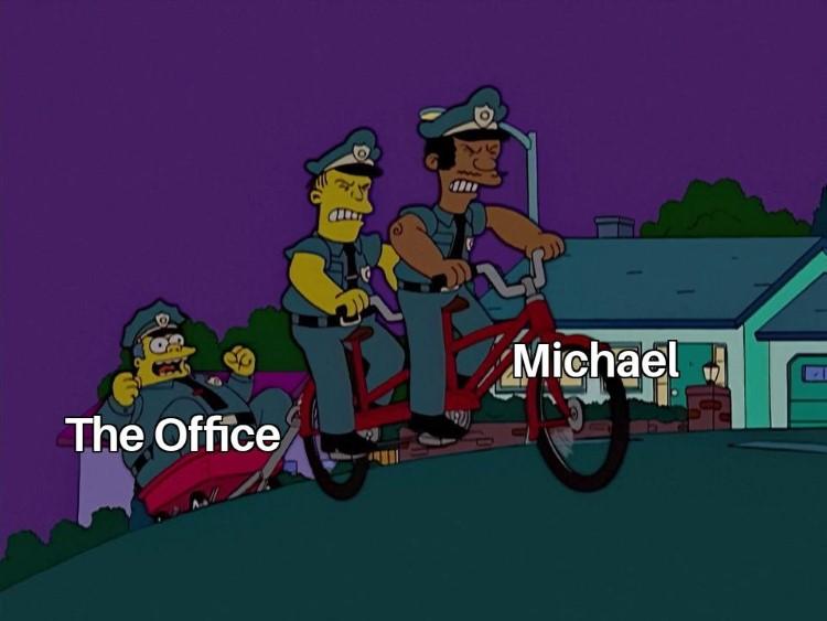 Simpsons Michael crossover