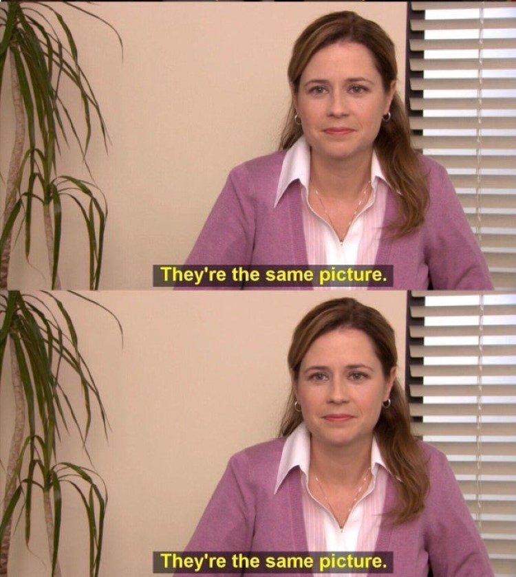 Theyre the same picture meta meme