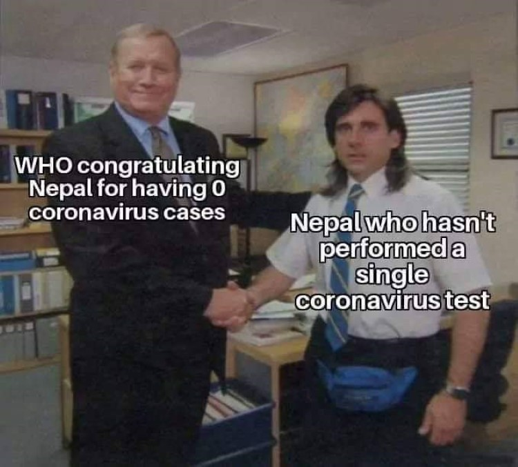 Nepal not counting tests meme