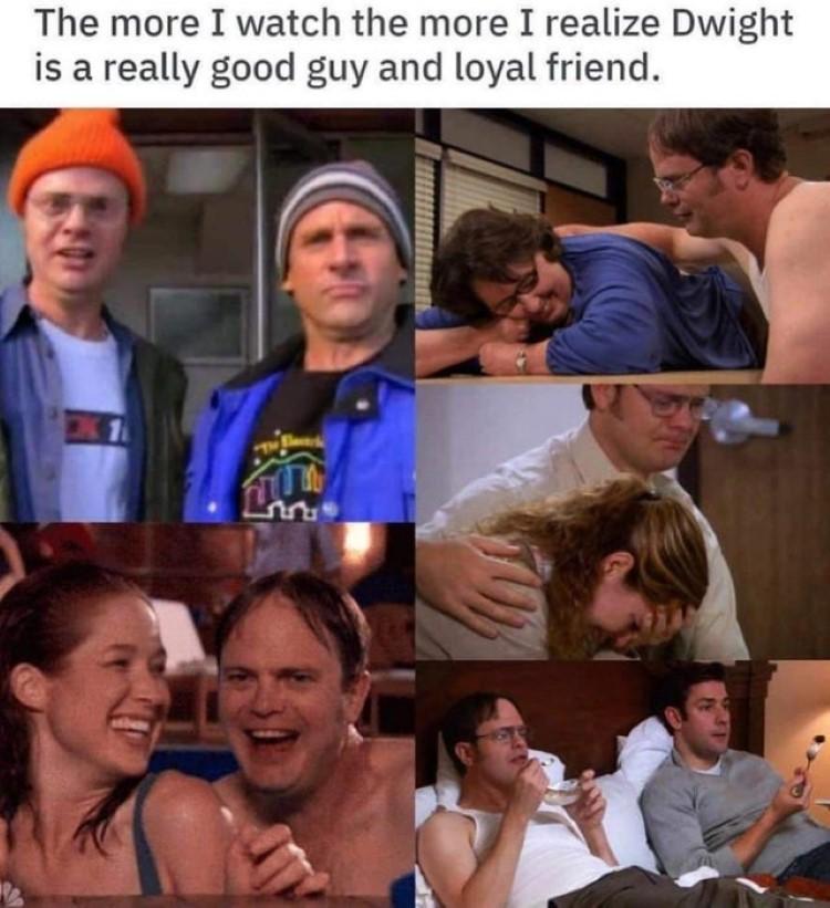 Dwight is loyal meme