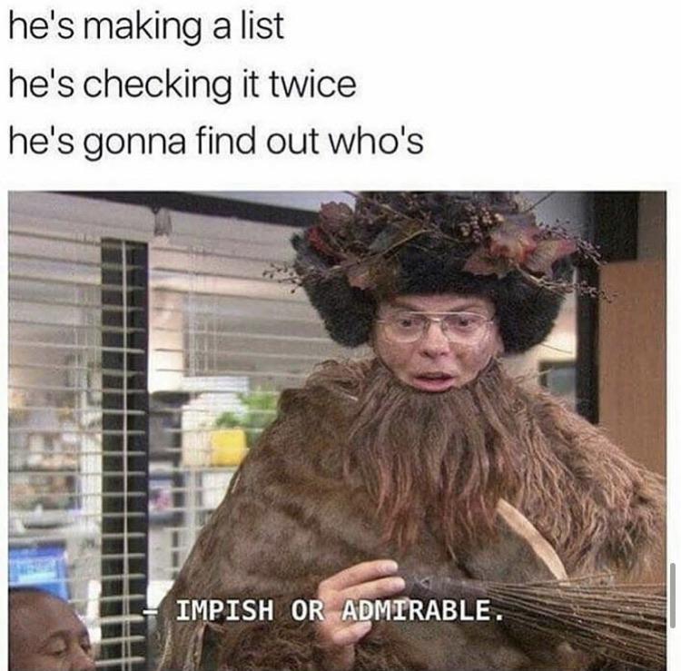 Impish or admirable meme