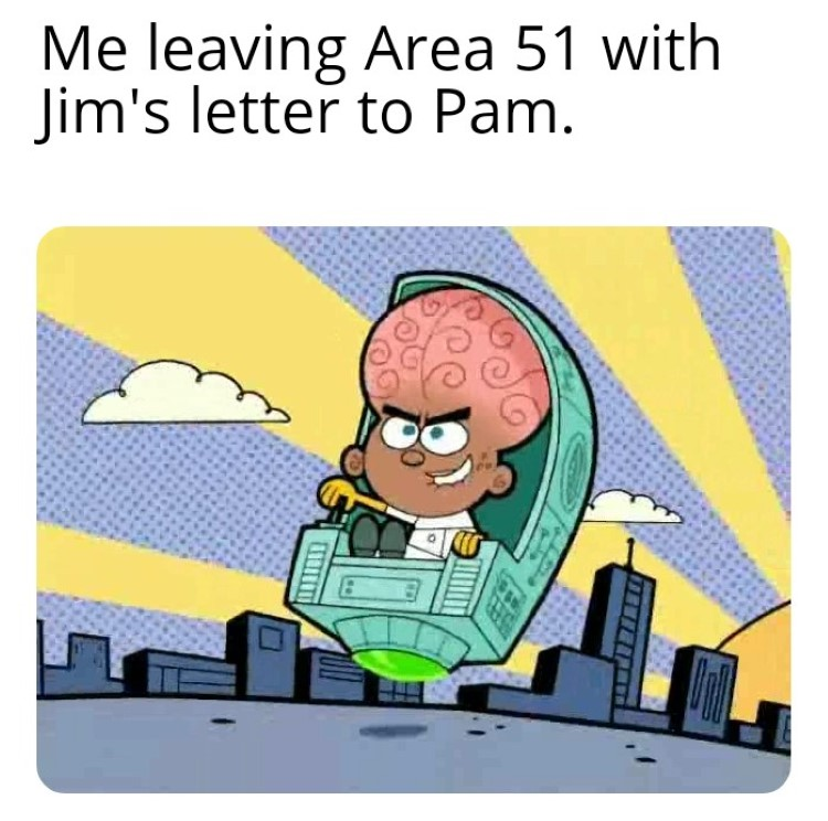 Stealing Jims letter from Area 51 Fairly Oddparents meme crossover