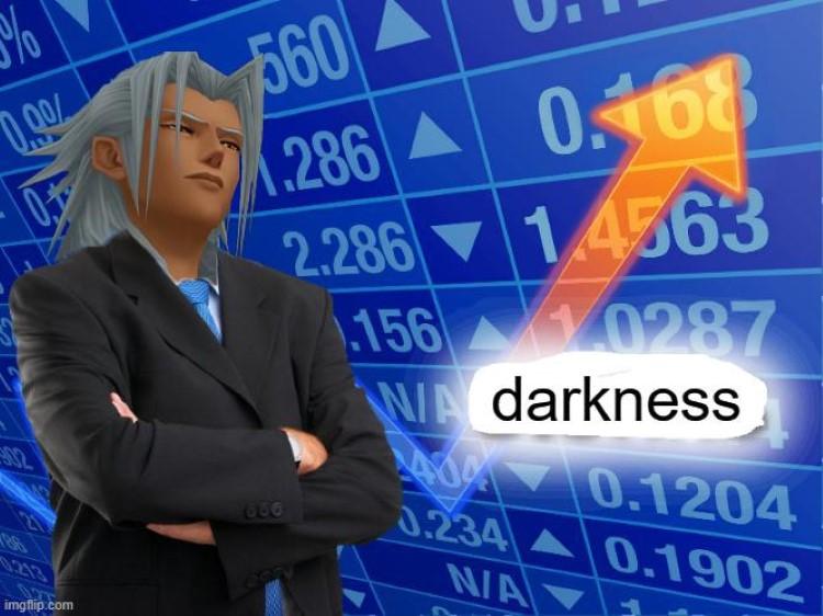 Ansem darkness stonks meme