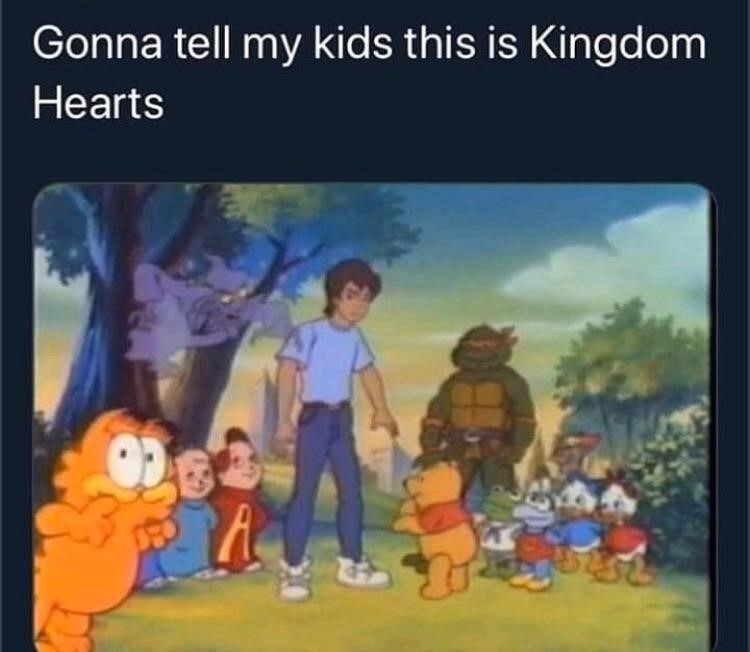 Gonna tell my kids this was Kingdom Hearts