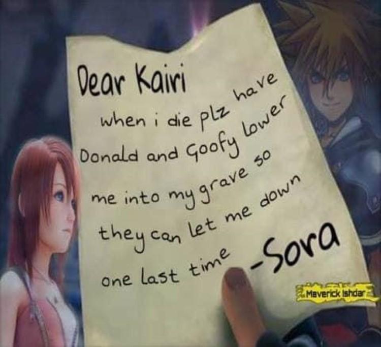 Dear Kairi funny letter meme