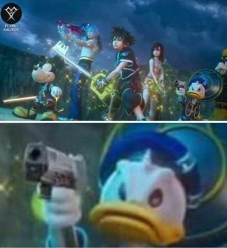 Donald gun meme