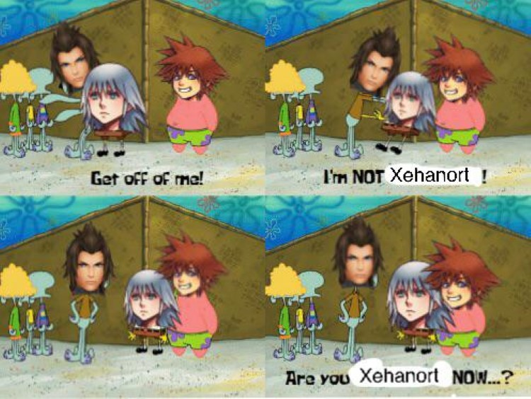 Are you xehanort now SpongeBob meme