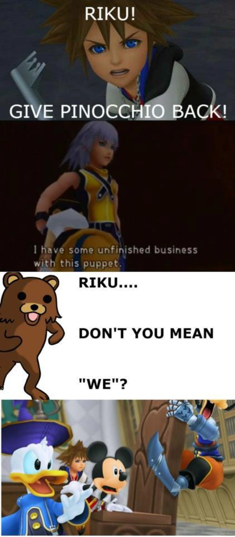 Riku is not done with with puppet