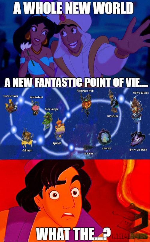 Whole new world KH meme