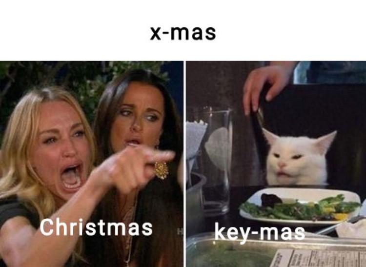 x-mas vs keymas meme