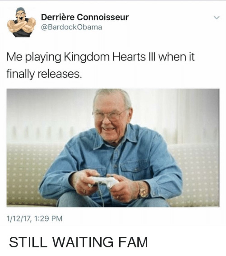 Playing KH3 as old guy