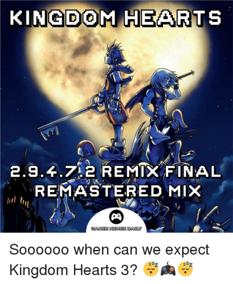Kingdom Hearts 2.8.4.7 remixed final remix master remaster mix funny art cover