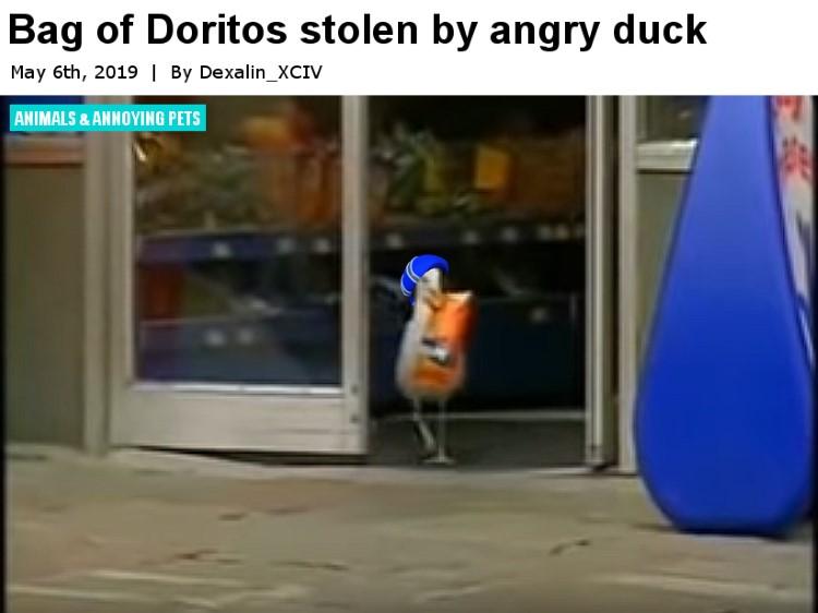 Bag of doritos stolen by Donald