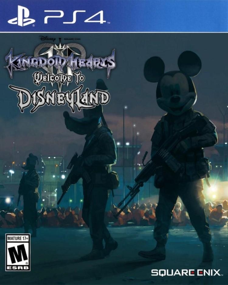 Welcome to Disneyland KH cover art joke game
