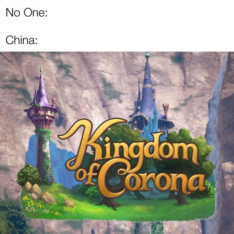 Kingdom of Corona China joke