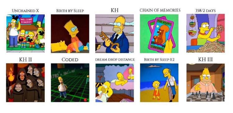 All KH games as Simpsons memes