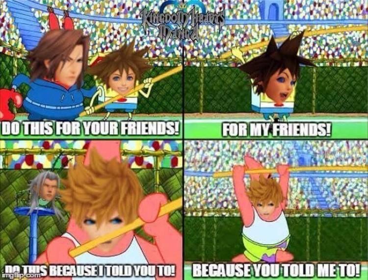 Because you told me to! SpongeBob Sora crossover