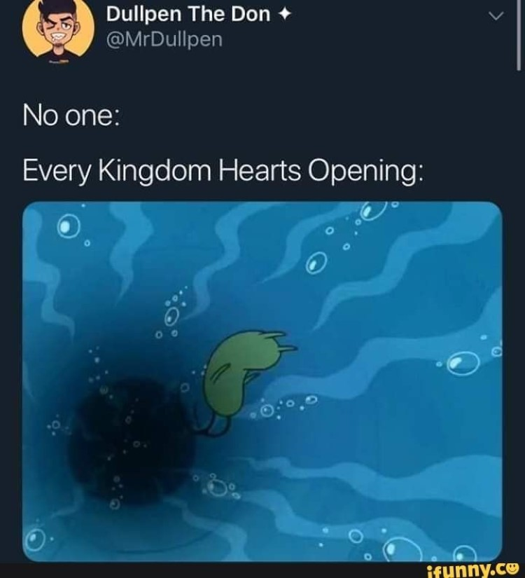 Every KH opening falling into water