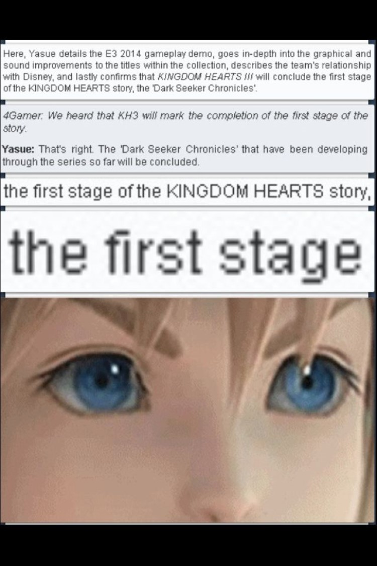 The first stage of KH story is insanely long