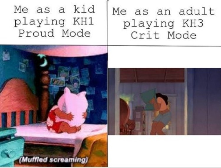 Playing KH3 as an adult on critical mode