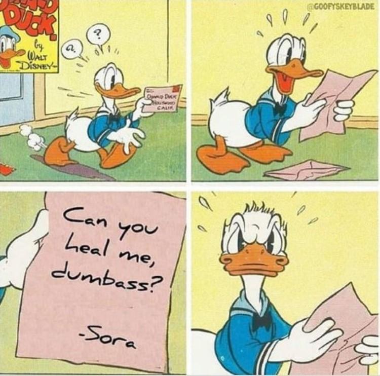 Sora Donald can you heal me