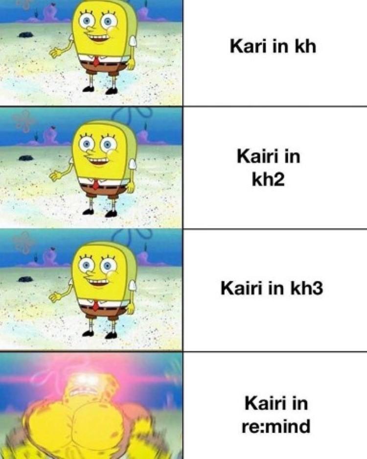 Kairi SpongeBob crossover from all games