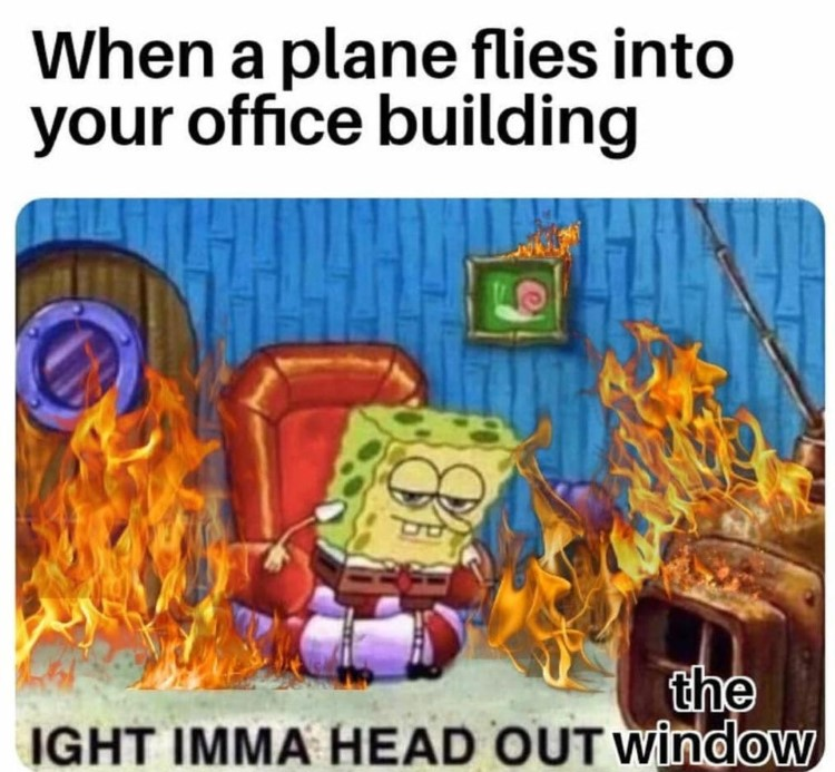 Plane flies into building aight imma head out