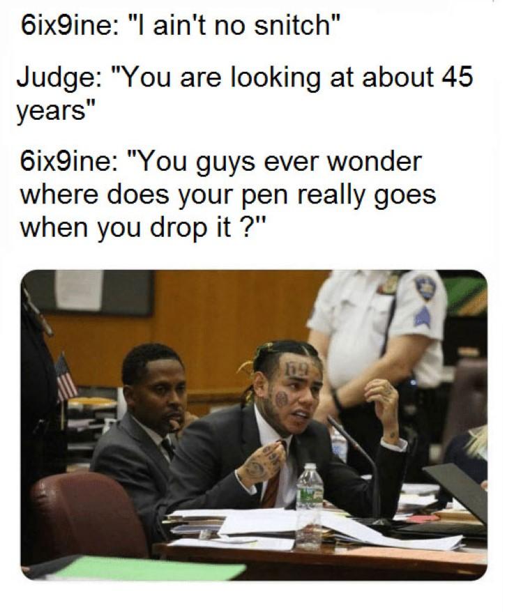 Where does your pen go meme Tekashi