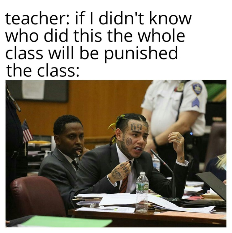 Tekashi snitching on class meme