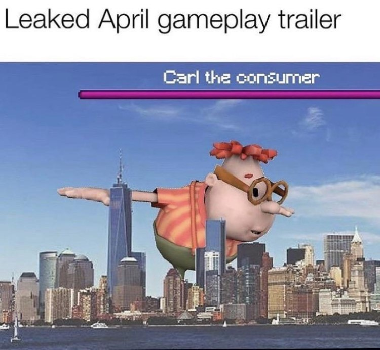Carl the consumer joke video game