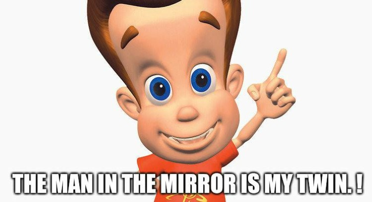 Man in the mirror is my twin