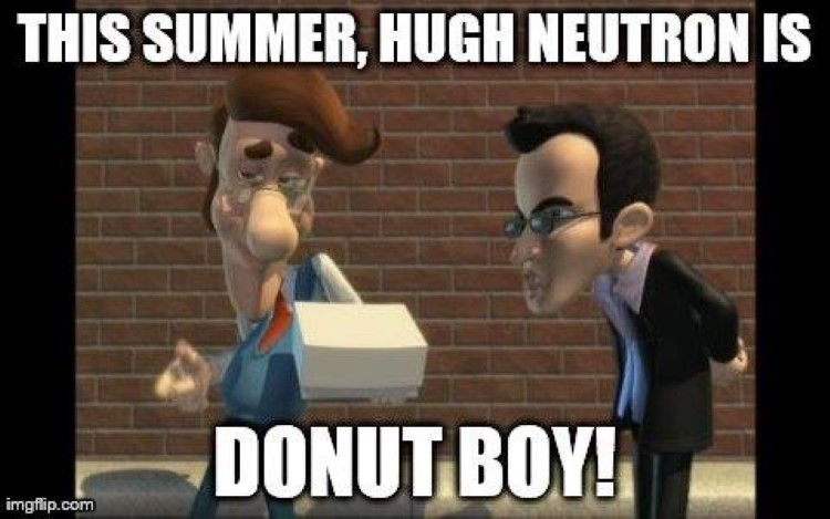 Hugh Neutron is donut boy meme