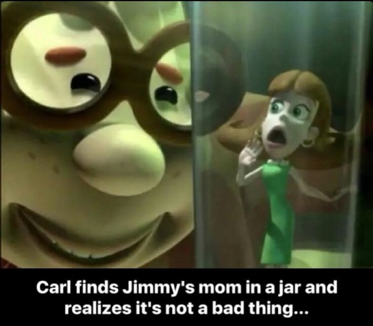 Carl finds Jimmys mom in a jar