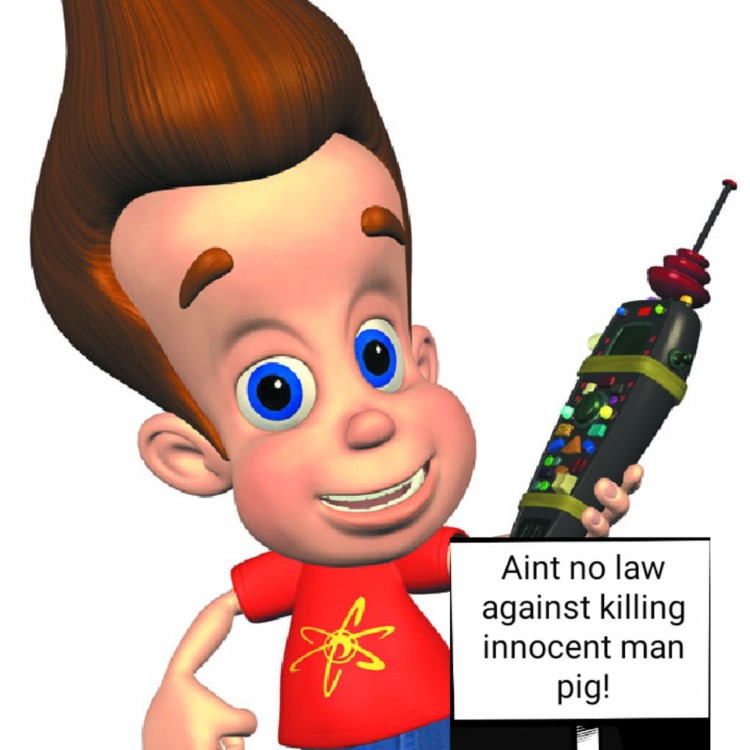 No law against pig man