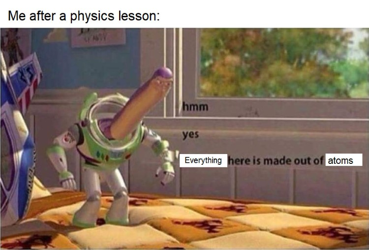 Buzz Lightyear yes physics makes sense