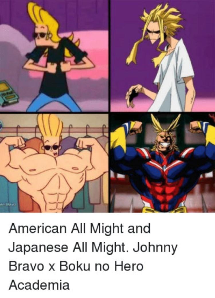 Johnny Bravo anime crossover