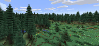 Forest biome screenshot Minecraft modded