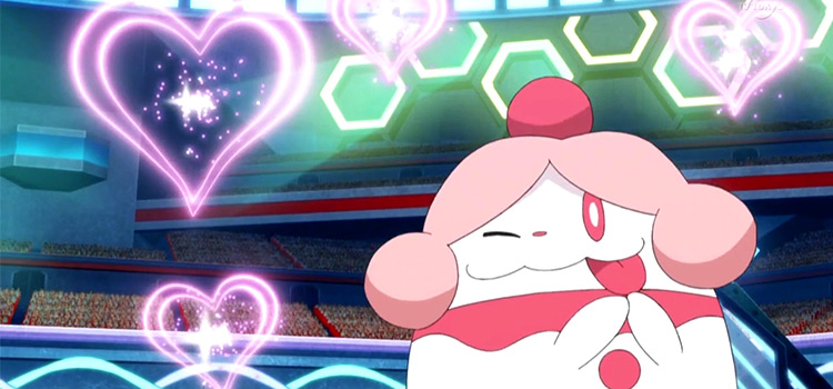 Slurpuff Pokemon from anime screenshot