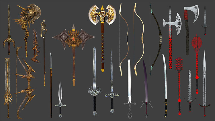 Immersive Weapons Oblivion mod