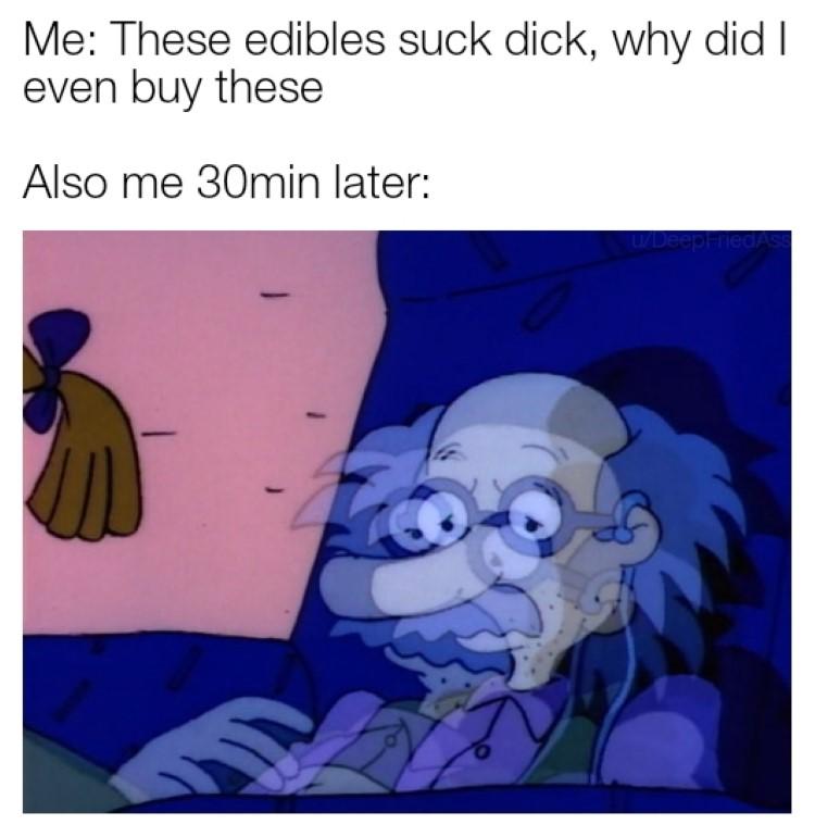 Edibles grandpa pickles meme